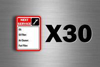 30 x sticker next service prochaine revision voiture moto camion entretien