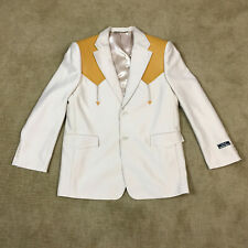 Vintage USA WESTERN WEAR Tan Sport Coat Jacket Mens 44 Rockablilly