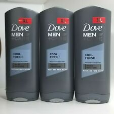 PACK OF 3- Dove Men+Care COOL FRESH Face and Body Wash 400ml