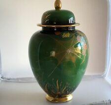 Vintage Art Deco Carlton Ware Lustre Enamels Spiders Web Pattern Ginger Jar
