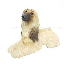 1988 Sandicast Afghan Hound Blonde Dog Sculpture by Sandra Brue