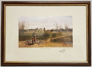 MICHAEL LYNE THE BEAUFORT AT BADMINTON LIMITED EDITION COLOUR PRINT NO 38 o 100
