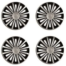 "16"" Black & Silver Wheel Trims Set Of 4 for Vauxhall Vectra Zafira Viva Vivaro"