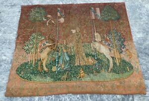 Antique Aubusson Style Tapestry Wall Hanging Home Décor Medieval Tapestry