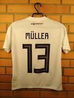 Muller Germany Jersey 2018 2019 Youth 13-14 Home Shirt Football Adidas Trikot