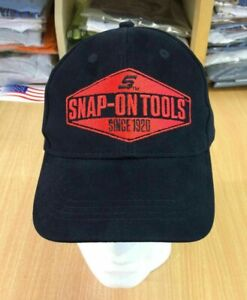 Genuine Snap-On Tools Black & Red Embroidered Logo Baseball Cap Hat Brand New