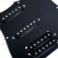 Black Loaded Prewired HSS Pickguard SSH Plate for Fender Strat Electric Guitar