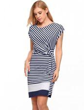 """Sadie"" Beautiful Ladies Blue & White Stripe Size 12 Soft Stretch Summer Dress"