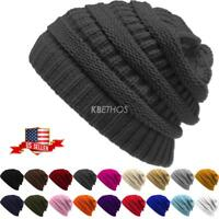 Clearance Sale ! No Ugly label ! New Knit Slouchy Beanie Oversize Thick Hat Warm
