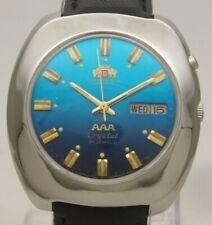 Vintage Orient AAA Japan 21J Automatic 46943 St Steel Day Date Men's Wrist Watch
