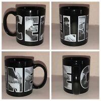 Vintage CELINE DION Black Coffee Cup Mug Wrap Around SPELL OUT Ceramic RARE HTF