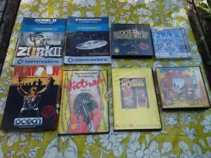 Commodore C64 Games 5 1/4 disk bundle / 8 Games in original cases.
