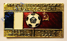 RARE OLD Badge Pin Dnepr Dnipro Ukraine Bordeaux GIRONDINS France 1985