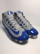 Brand New Nike Huarache Baseball Cleats Mid Size 11 Blue White Gray BSBL MLB