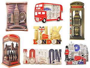 Famous London Icons Design Set of 7 Metal Fridge Magnets - 7 Metal Pieces