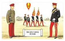 Postcard The King's Royal Hussars, Regimental Guidon Party by Geoff White
