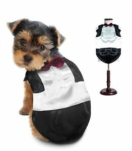 High Quality Costume DOG TUXEDO COSTUMES Dress Your Dogs Wedding Groom Tux