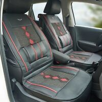 1pcs Universal PU Leather Car Seat Cover Cushion Back Support Waist Massage