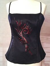 New woman Top corset satin style, halter top fitted top - womens