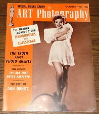 MARILYN MONROE AUTHENTIC ORIGINAL USA ART PHOTOGRAPHY MAGAZINE OCTOBER 1954