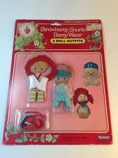 Vintage Strawberry Shortcake 1981 MIP Two Doll Clothing Shoes NOS NEW OLD STOCK