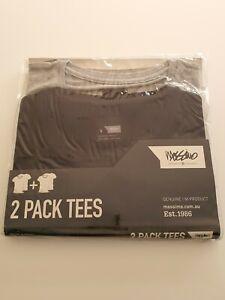 NEW Mossimo 2 Pack SMALL Tees Bruce Underwear Sleep T-shirt BLACK GREY $49.95