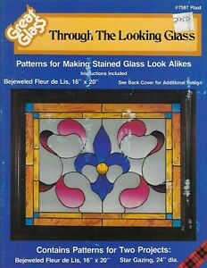 Great Glass Through The Looking Glass Faux Stained Glass Patterns Craft Book