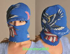 NWT ED HARDY WOMENS USA EDITION CONVERTIBLE TO A CUFF CAP W/VISOR HAT/FACEMASK