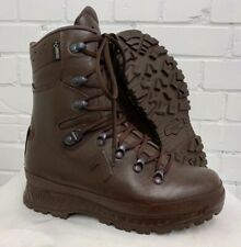 HAIX BROWN COLD WET WEATHER GORE-TEX BOOTS - 6 Medium , British Army Issue