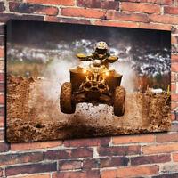"ATV Quad Bike Jump Wall Art Printed Canvas Picture A1.30""x20""30mm Deep Frame"