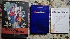 3 libri classici per ragazzi IL PICCOLO PRINCIPE + ZANNA BIANCA  PICCOLI UOMINI