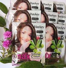 Color shampoo dyed gray hair pure natural ginseng noni 8 Pcs.X 30 ml dark brown