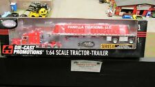 DCP #30866 Panella trucking PETE 379 SEMI CAB TRUCK TARPED FLATBED TRAILER 1:64/