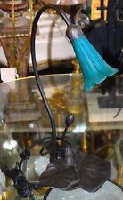 Tiffany Meyda Blue Pond Lily One Light Table Lamp