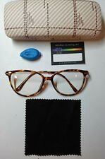 Blue Light Blocking Leopard Frames Transparent Lens With Case-Blue Light Tester
