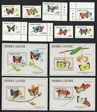 Sierra Leone Butterflies 8v+4 MSs COMPLETE MNH SG#1649-MS1657