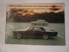 1965 FORD GALAXY 500 OWNER'S MANUAL - TUB D