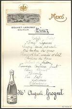 76 LE HOULME MENU MARIAGE MARY GUYANT SAUMUR BOUVET LADUBAY 1927