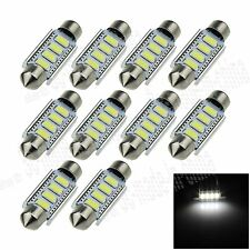 10X White 41MM 4 5630  Canbus Error Free Festoon Dome LED Light Roof Bulb I314