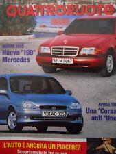 Quattroruote 448 1993  - test BMW M5 - Renault Safrane - Fiat Croma   [Q37]