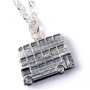 NEW Official Licensed Harry Potter St. Silver Knight Bus Pendant Necklace