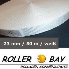 50 m Maxi Rolladen Gurt weiß Rolladengurt Gurtband 23 mm breit Rollladen