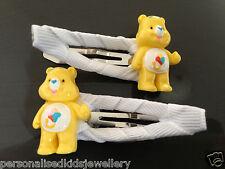 CARE BEARS girls hair clip (2x snap hairclip) OR Peppa Pig, Elmo, Hootabelle etc