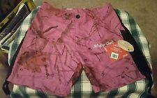 NWT Ladies Mossy Oak Camo Shorts w/Pockets Large Purple
