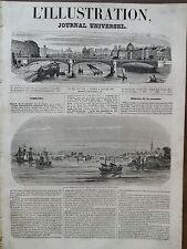 L' ILLUSTRATION 1847 N 201 VUE DE NAGAZAKI, VILLE DU JAPON (GRAVURE HOLLANDAISE)