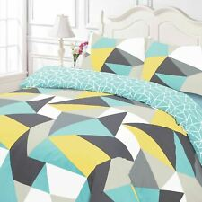 Dreamscene Shapes Duvet Set With Pillowcases Multicolour - King