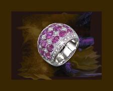 limitado Zafiro Anillo De Diamantes Serie 750 18kt Oro blanco Brillantes Nuevo