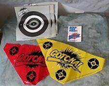 Entertech GOTCHA lot flags targets Vintage Paintball Gotcha Game vtg 80s