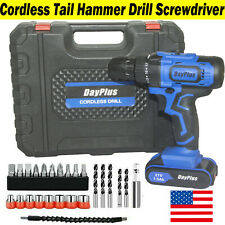 21V Drill 2 Speed Electric Cordless Drills/Driver with Bits Set & Li-Ion Battery