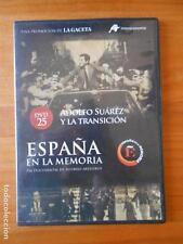 DVD ESPAÑA EN LA MEMORIA 25 - ADOLFO SUAREZ Y LA TRANSICION - CAJA SLIM (C5)